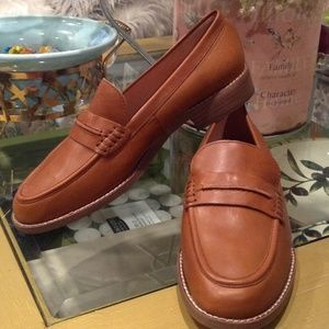 Madewell Brown Leather Loafers, Size 11 M